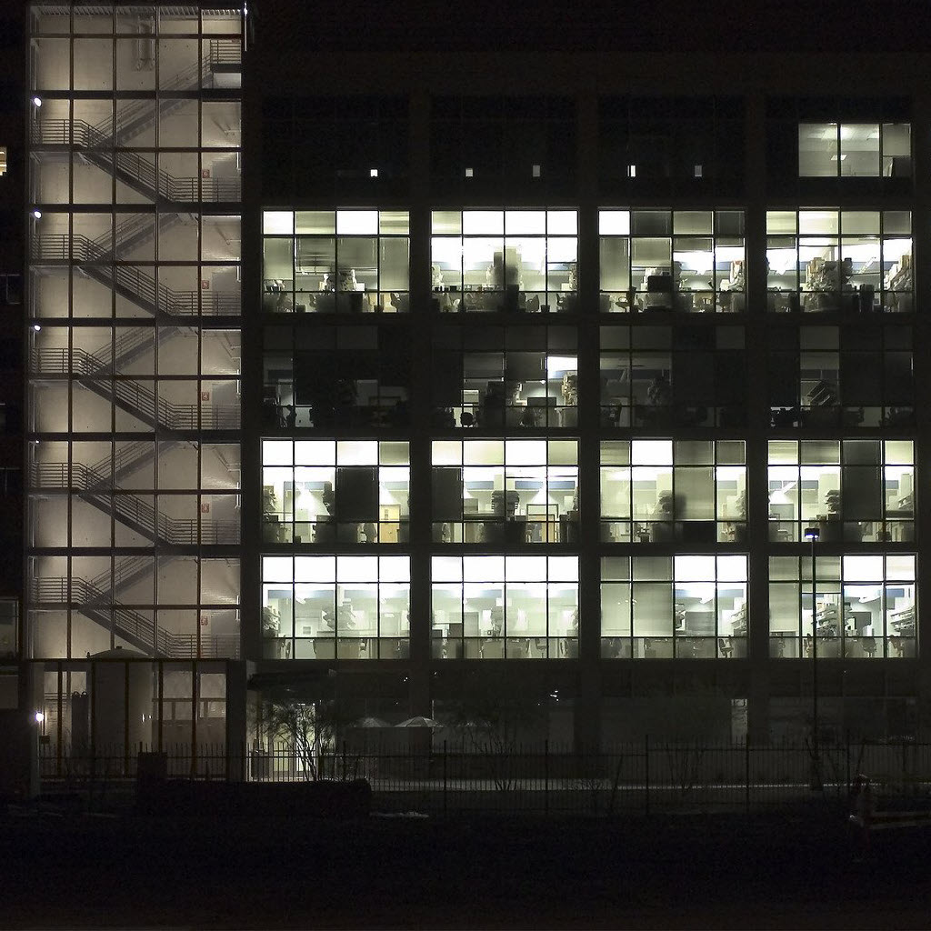 painting-office-building-at-night
